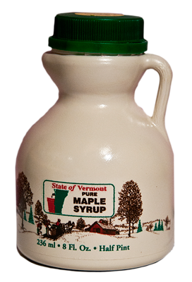 1/2 pint of pure Vermont Maple syrup from Collins Tree Farm and Sugarhouse