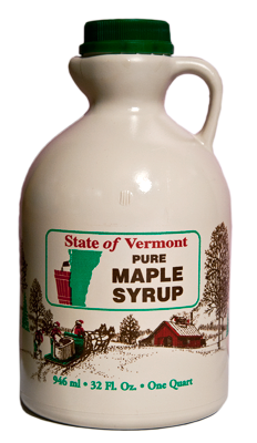 1 Quart of Pure Vermont Maple Syrup from Collins Tree Farm and Sugarhouse